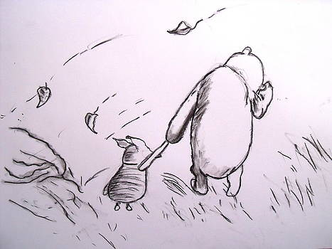 Pooh and Piglet by Jessica Sanders