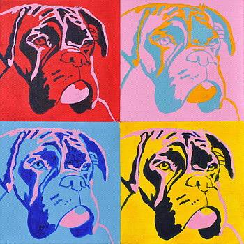 Pop Art Boxer Dog by Louise Charles-Saarikoski