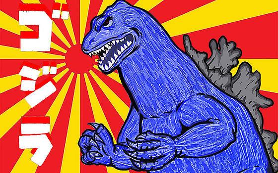 Pop Art Godzilla by Gary Niles