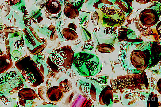 Pop cans by Billy Lewis