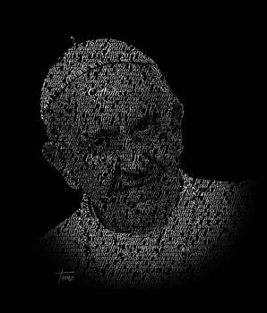 Pope Francis Typography Portrait by Justo Terez Jr