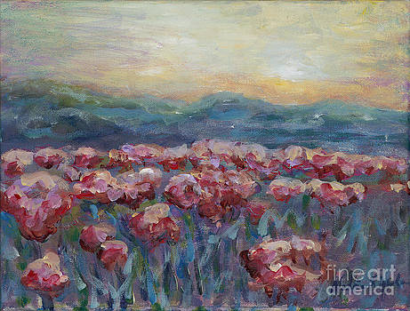 Poppies at Sunset by Nadine Rippelmeyer
