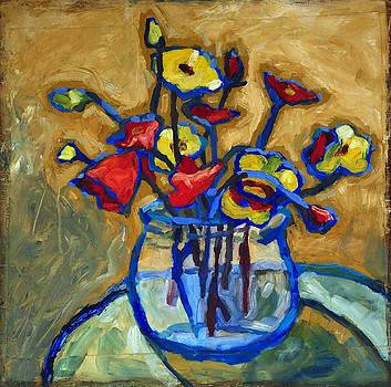 Poppies in Bowl by Yvonne Gaudet