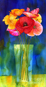 Hailey E Herrera - Poppies in Vase