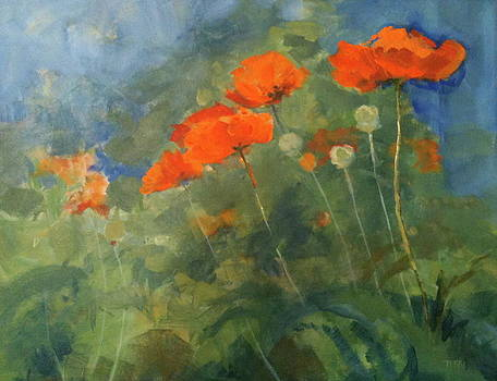 Poppies on Circular by Terri Messinger