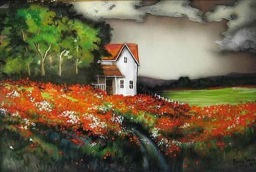 Poppies on the old homestead by Kendra Sorum