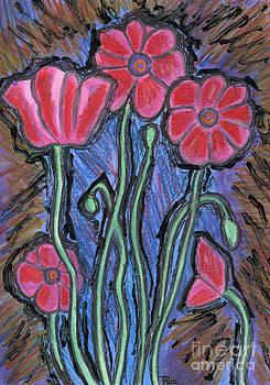 Poppies by Roz Abellera Art