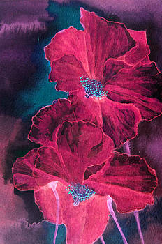Poppies Ruby Reds by Louise Grant