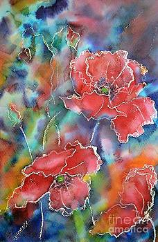 Poppy Abstract by Kathleen Pio