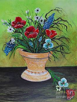 Poppy Bouquet Still by Rhonda Lee