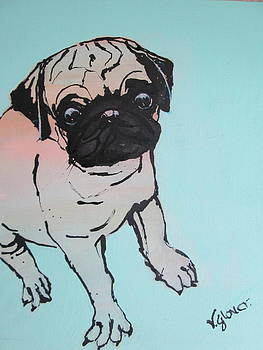 Poppy Pug by Victoria Glover
