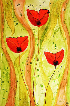 Poppy Splash by Sherry Allen