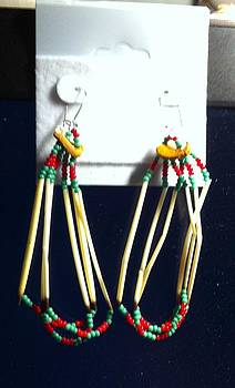Porcupine Quill Earrings by Kimberly Johnson
