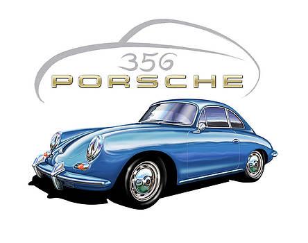 Porsche 356 Coupe Blue by David Kyte