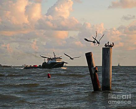 Port Fourchon Boat by Luana K Perez
