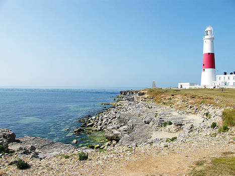 Portland Bill Lighthouse on The Island of Portand by Moya Moon