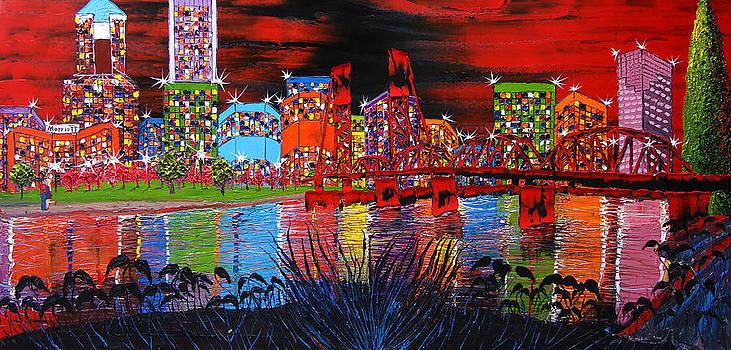 Portland City Lights 32 by Portland Art Creations