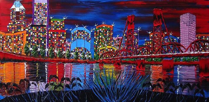 Portland City Lights 33 by Portland Art Creations