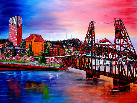 Portland City Lights 48 by Portland Art Creations