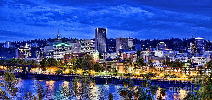 Portland Skyline by Benny Ventura
