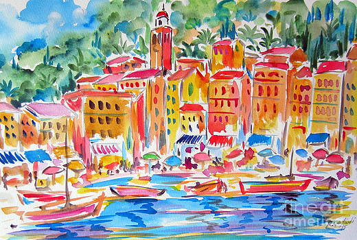 Portofino Water Color by Roberto Gagliardi