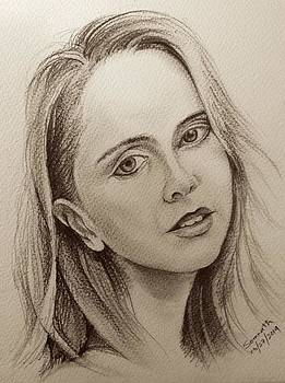 Portrait Charcoal  by Somnath Kundu