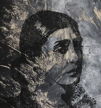 Portrait Monoprint by Rachel Hames