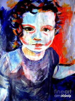 Portrait of a little girl by Helena Wierzbicki