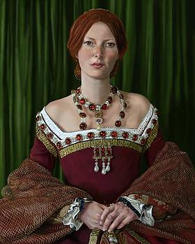 Portrait Of A Tudor Lady by Mark Satchwill