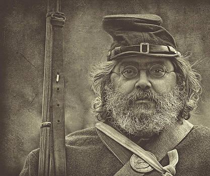 Portrait Of A Union Soldier by Pat Abbott