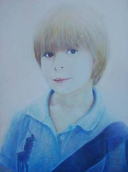 Portrait of a young boy by Isabelle Ehly
