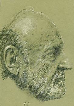 Portrait of an Old Man by Arion Khedhiry