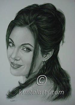 Portrait of Angelina Jolie by Kuntal Chaudhuri