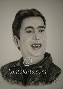 Portrait of Aziz Bhutto by Kuntal Chaudhuri