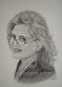 Portrait of Bina Kak by Kuntal Chaudhuri