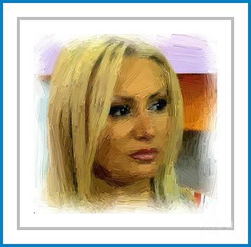 Portrait of Brikena Artist 02 by Arif Zenun Shabani