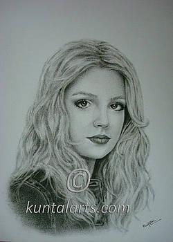 Portrait of Britney Spears by Kuntal Chaudhuri