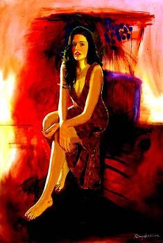 Portrait of Cassie  by Rom Galicia