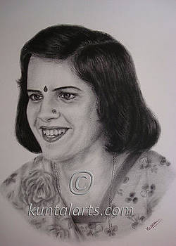 Portrait of Chanderkala  by Kuntal Chaudhuri