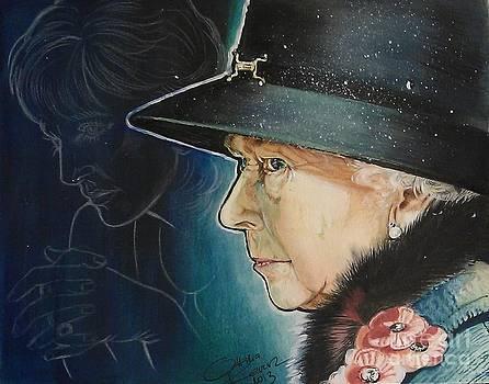 Portrait of Her Majesty Elizabeth the Second by Ottilia Zakany