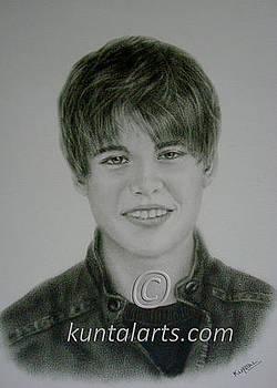 Portrait of Justin Bieber by Kuntal Chaudhuri