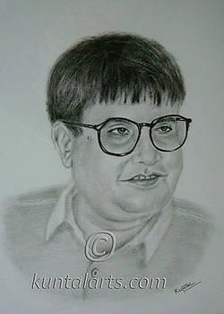 Portrait of Madhu Acharya 'Ashawadi' by Kuntal Chaudhuri
