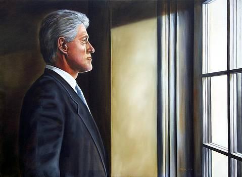 Portrait of President William Jefferson Clinton in Profile by RB McGrath