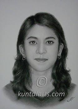 Portrait of Shubhangi by Kuntal Chaudhuri