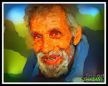 Portrait of Tefik krasniqi 02B by Arif Zenun Shabani