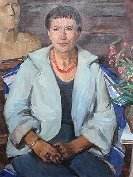 Portrait of wife by Alexander Stolbov