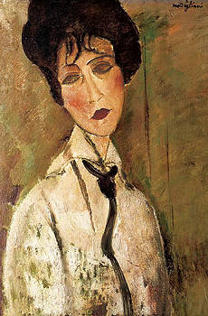 Amedeo Modigliani - Portrait of Woman with Black Tie