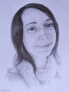 Portrait Sketch - Eliska by David Joffe
