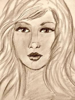 Portrait1 by Farfallina Art -Gabriela Dinca-