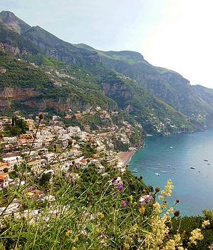 Marilyn Dunlap - Positano Through The Flowers